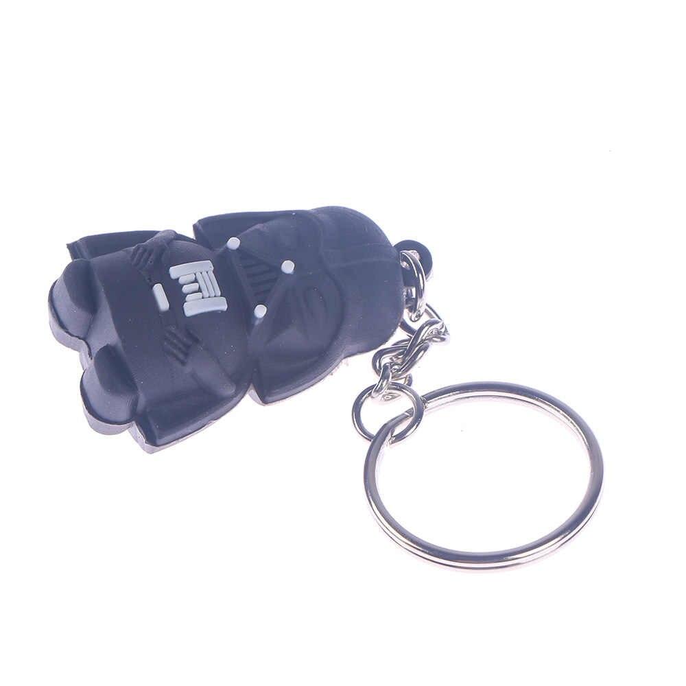 1 шт. Звездных Войн фигурный брелок черный Дарт Вейдер светодиодный Кулон йода bb8 звуковая связка ключей, подарок детям на новый год, подарки