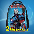 2016 Fashion Children School Cartoon Backpacks,Iron Man Backpack Boys Bag,Kids Schoolbags, mochilas school kids boys