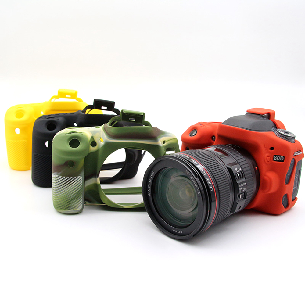 Nice soft Silicone Case For Canon 80D Camera Video Bag Camera Case Rubber Protective Body Cover