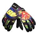 "Guantes de moto invierno hombres/mujeres imprimir logo ""46"" motocross off road racing guantes de moto guantes al aire libre guantes gants moto luva"