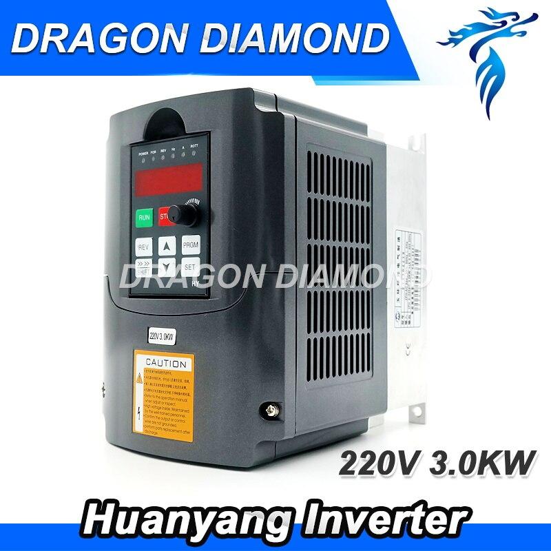 цена на VFD Huanyang Inverter 3kw 220V 380V for CNC Router Spindle Motor Speed Control