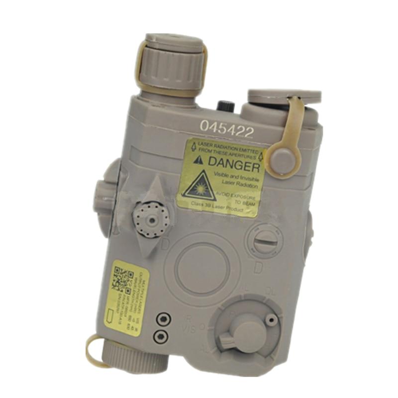 tactical PEQ 15 LA-5 Battery Case battery box + red laser nylon for 20 mm black DE FG