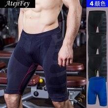 AtejiFey 2018 Fitness Yoga shorts for Men Gym Sports Jogging Workout Five Sweatpants High Quality Tight Elastic Bodybuilding