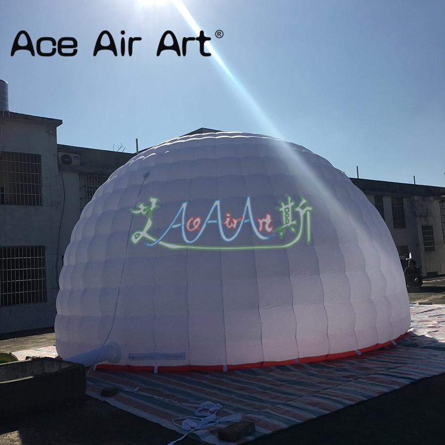 7376be56c803 € 690.24  Envío Gratis gigante boda carpa iglú fiesta tienda de aire blanco  Domo inflable tienda de campaña con iluminación led circo carpa para ...