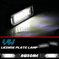 2x LED License Plate Number Light For VW Golf 4 5 6 Beetle Passat Polo Phaeton