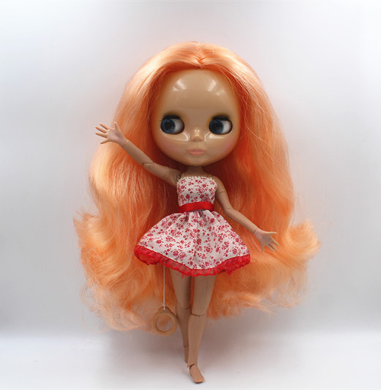 Free Shipping BJD joint RBL-415J DIY Nude Blyth doll birthday gift for girl 4 colour big eyes dolls with beautiful Hair cute toy free shipping bjd joint rbl 415j diy nude blyth doll birthday gift for girl 4 colour big eyes dolls with beautiful hair cute toy