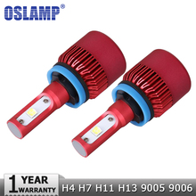 Oslamp H4 H7 H11 H13 9005 9006 CREE Chips SMD 80W LED Car Headlight Bulb Hi-Lo Beam 9600lm 6500K Auto Headlamp Fog Light 12V 24V