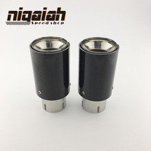 "2PCS TOP quality Car Carbon Fiber Exhaust End Tips for BMW 2.5"" in, 3.5"" out"