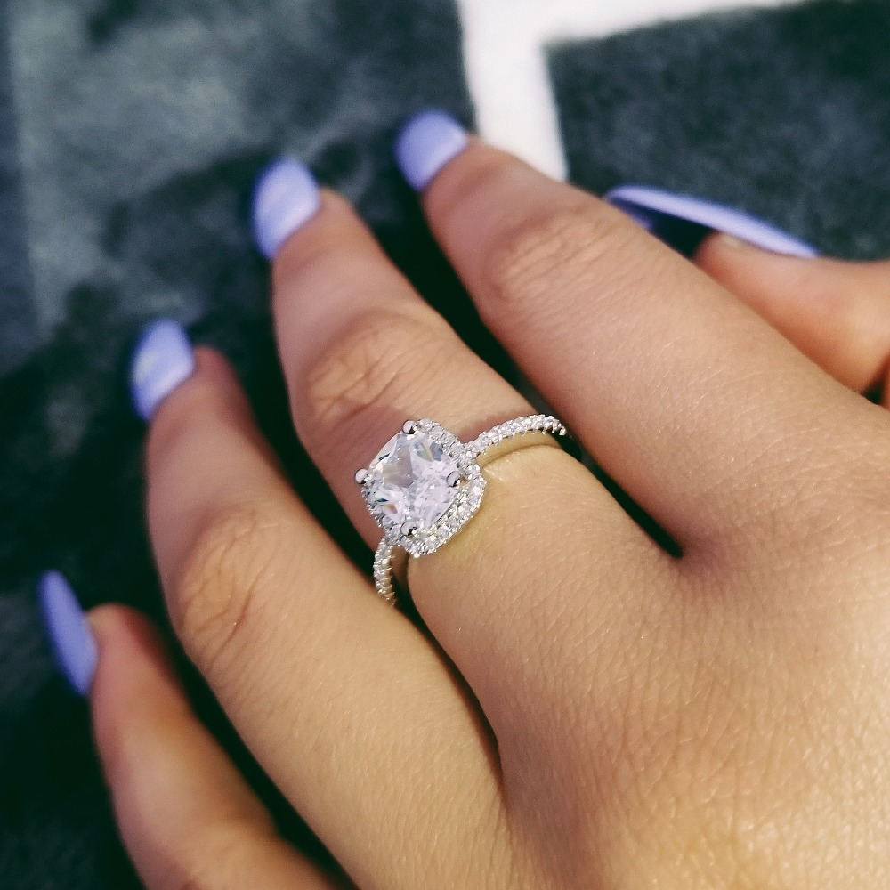 2019 new arrival 925 Sterling Silver Ring Finger anel aneis CZ Stone for Women Wedding Engagement Jewelry personalized LR466S2019 new arrival 925 Sterling Silver Ring Finger anel aneis CZ Stone for Women Wedding Engagement Jewelry personalized LR466S