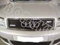 CARBON FIBER 02 05 A4 B6 RS4 BADGELESS FRONT MESH GRILLE