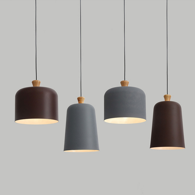 Nordic Минималистский стол алюминиевый люстры творческая личность исследование кафе-бар твердой древесины люстры