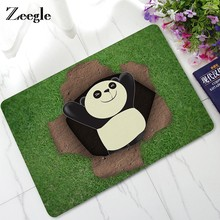 Zeegle Door Mat Animals Panda Mats Baby Bedroom Decor Carpet Foot Pad Non-slip Bathroom Mat Entrance Floor Mat(China)