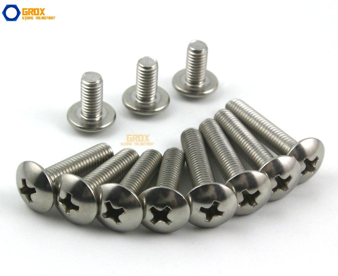 M6 316 Stainless Steel Phillips Truss Head Machine Screw