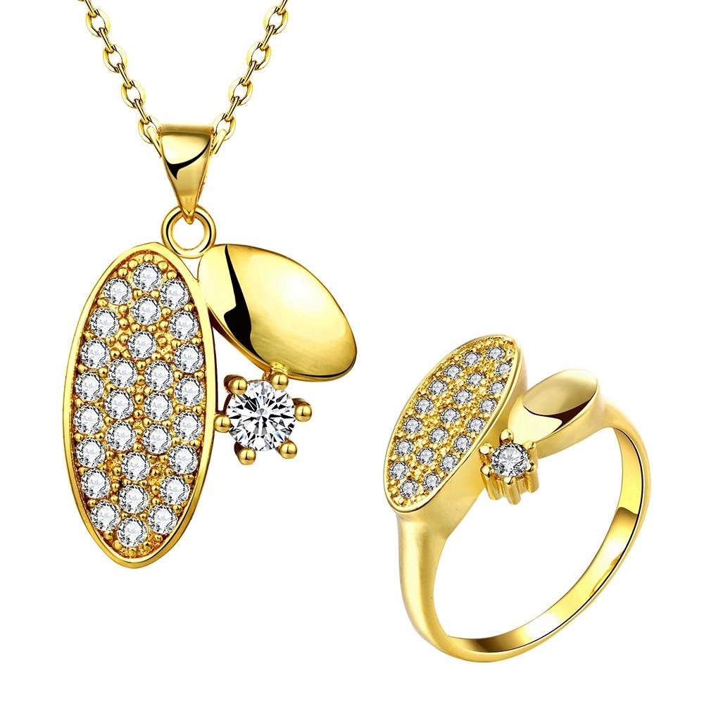 alloy anti jewelry set allergy zircon environmental Fashion 24K KZCS056-A