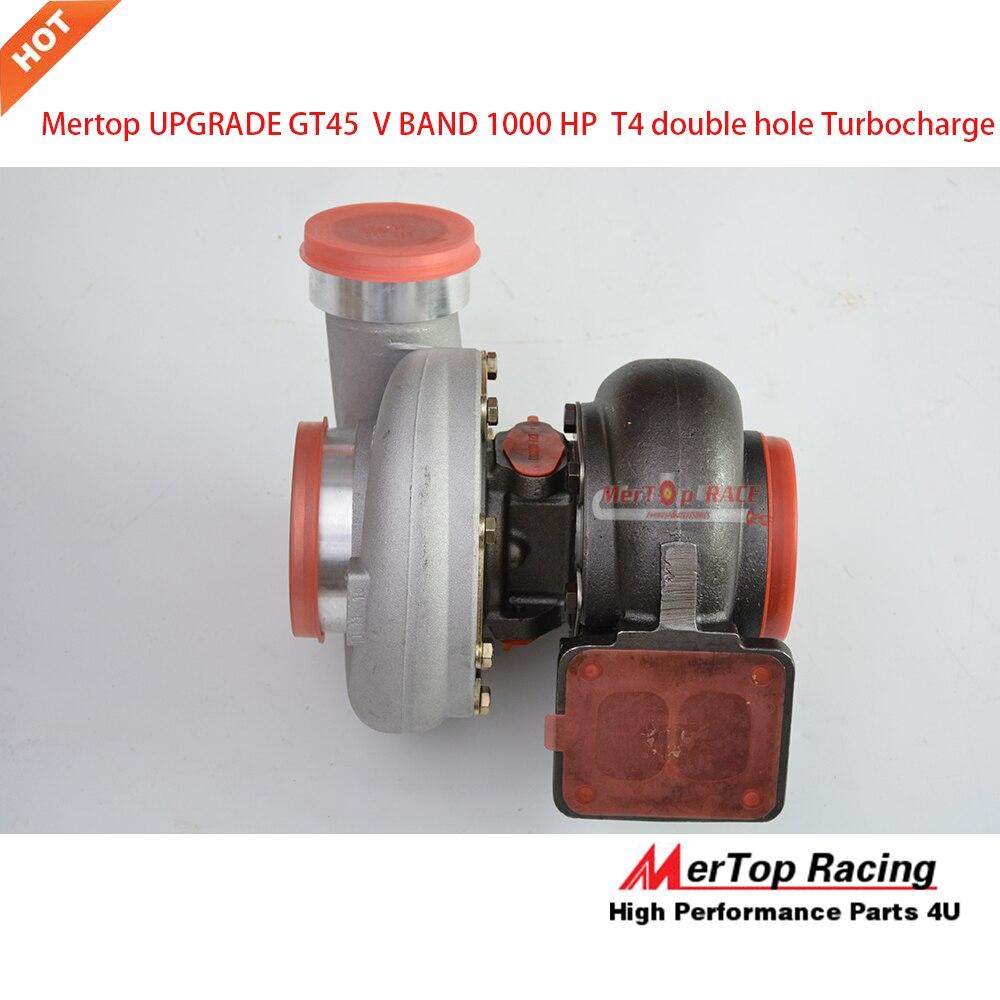 HUGE GT45 TURBO TURBOCHARGER TURBINE COMPRESSOR V BAND 700 HP CAPABLE T4 FLANGE