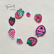 Hot sale Fruits Sequins strawberry iron on Patch T Shirt Sticker Transfers Patches Sew On Girls Dress Hoodie Coat Pants Shoes(China)