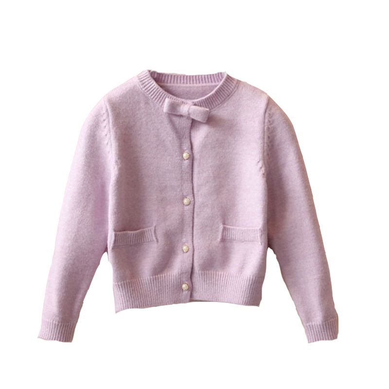 Baby Kids Knitted Cardigans For Girls Sweaters O-Neck Children Knit Wear Spring Autumn Todders Outerwear 18M 24M 4 5 6 8 10 11Y