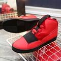 Hot Sale Patrick Mohr Men's shoes Flat Triangle Shoes Men PU  Leather Nubuck Trend Red Black Nubuck Casual shoes