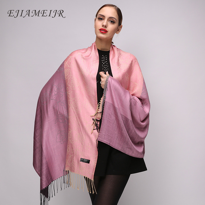 EJIAMEIJR brand women scarf new cotton scarf artificial flower cotton wraps dual-use sunscreen scarves high fashion 2018