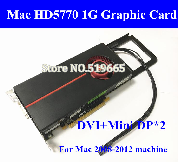 DHL/EMS For MacPro Apple ATI Radeon HD 5770 HD5770 1GB Graphics video Card for the Mac Pro with mini 6pin to pcie 6pin cable original high quality genuine for mac pro edition ati radeon x1300 256mb pcie video card for macpro1 1 2 1 xserve