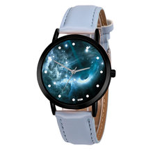 Quartz Space System Watch Astronomy Planets Casual Unisex Classy Creative Unique Solar Leather Strap Analog Watches