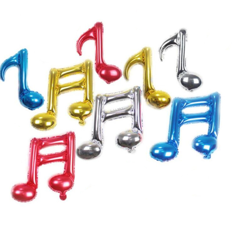 2pcs/set 16inch Musical Notes Foil Balloons Wedding <font><b>Birthday</b></font> Party Decorations Supplies <font><b>8th</b></font> Music Note Inflatable Helium Balloon image