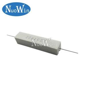 2pcs 20W 5% Cement Resistor Power Resistance 0.1 ~ 10K 0.1R 0.5R 10R 50R 0.22 0.33 0.5 1 2 5 8 10 20 22 30 50 100 1K 1.5K 2K ohm