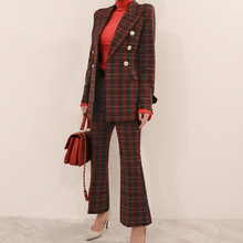 Set female 2019 spring and autumn new professional casual pl