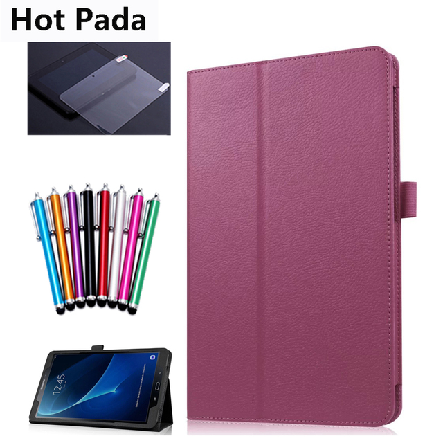 8f461f9c95d6b Hot Pada Case for samsung galaxy tab A 10.1 SM-T580 SM-T585 10.1   tablet  smart case+screen protector+stylus