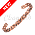 Channah 2017 Unisex Antique Copper Plated Magnetic Pure Copper Bangle 6pcs Magnets Oval Pattern Bracelet Free Shipping Charm
