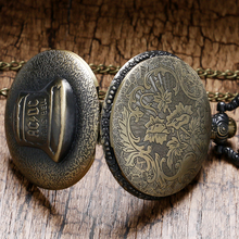 New Fashion Antique Pocket Watch Hells Bell Pattern Pocket Fob Watch With Pendant Chain Watch Men