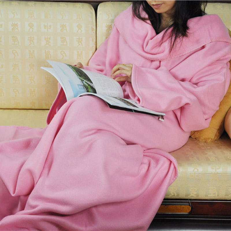 New Design High quality Home Winter Warm Fleece Snuggie Blanket Robe Cloak With Sleeves Lazy Blanket