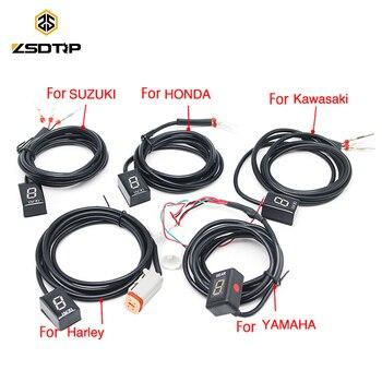 ZSDTRP 1-6 уровень Ecu разъем крепление скорости шестерни дисплей индикатор для Harley Kawasaki Yamaha Honda Suzuki CBR600 CB1000 GSXR 600 Z800