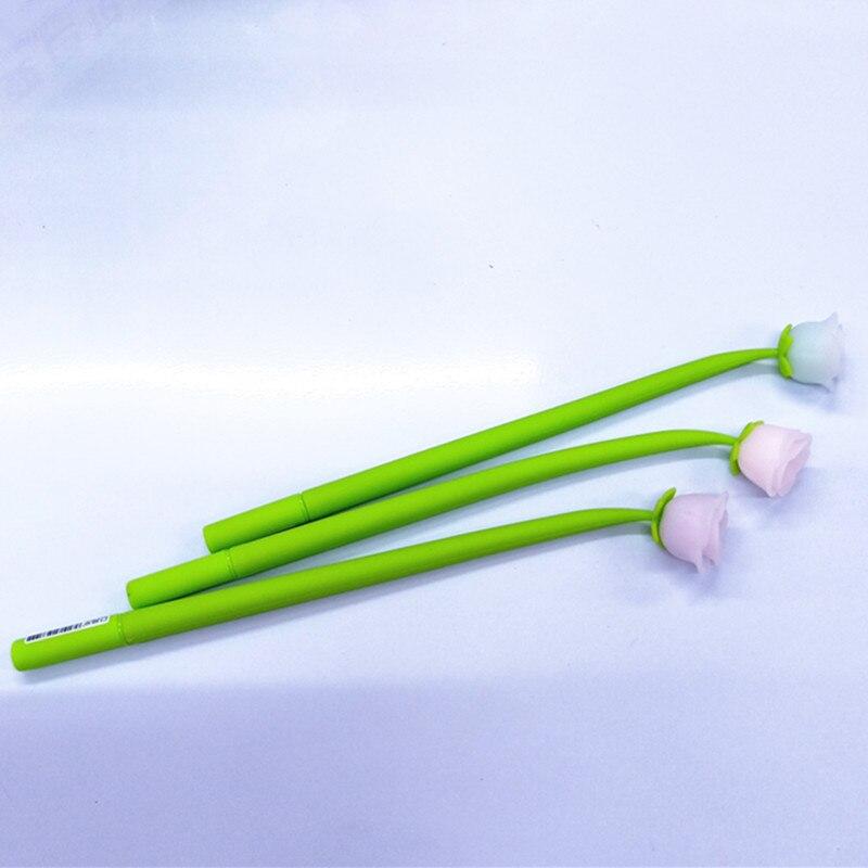 Ofis ve Okul Malzemeleri'ten Jel Kalemler'de 48 adet/grup Yaratıcı kırtasiye jel kalem gül çiçek renk değişimi silikon 0.5mm siyah mürekkep öğrenci okul ofis düğün kalemler'da  Grup 3