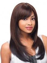 Амір Синтетичний перук для волосся довго прямий Блондинка Ombre Перука для жінок Чорне натуральне волосся Aat Bang Повні пари Cosplay