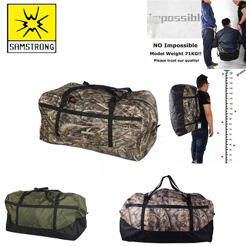 80L Outdoor Carry  Handbag Big Duffle Bags  Army Large Capacity Travel Bag  Sport New Camouflage Duffel Hand Bags