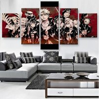 Canvas Wall Art Posters Prints Canvas Painting Wall Pictures Modular 5 Panel Naruto For Living Room Home Decor Frame  PENGDA