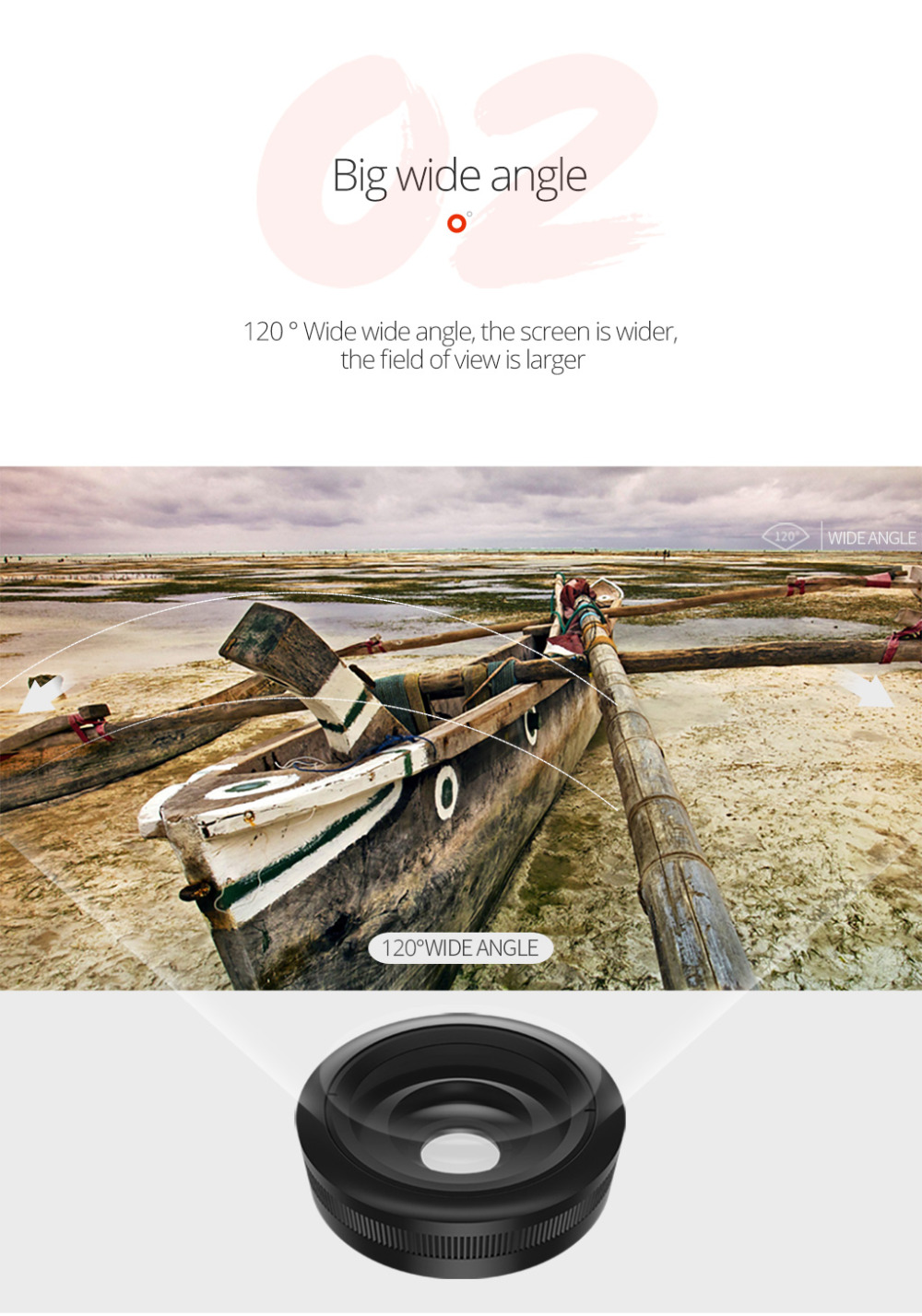TORRAS Mobile Phone Lens Wide Angle Fish Eye Clip-on Alloy Metal Cell Phone Camera Lens Kit 15X Macro For iPhone Lens with Case 12