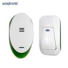 בית משרד אלחוטי חשמלי צלצול טבעת פעמון AC 220V 1 התוספת מקלט 1 לדחוף כפתור משדר 150m לקבל טווח