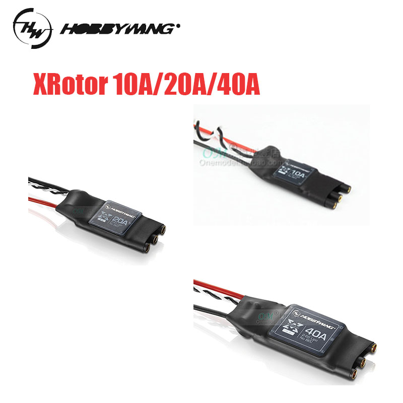 Hobbywing XRotor 2-6S Lipo 40A //20A //10A Brushless ESC No BEC for RC Aircraft