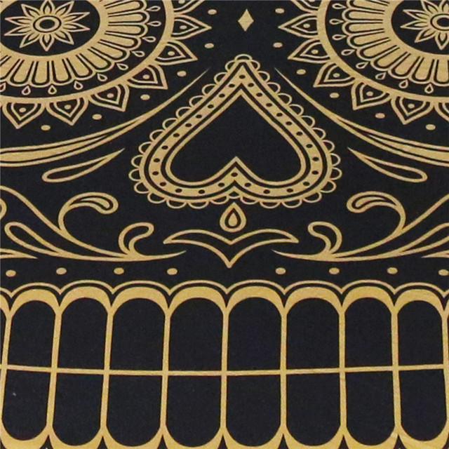 BLACK & GOLD SUGAR SKULL BEDDING SETS