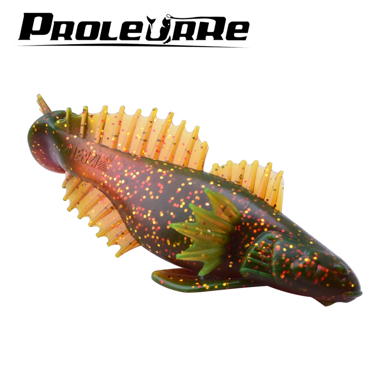 Proleurre 20g Soft Fishing Wobbler Richiamo 100mm Soft Fish Carp Fishing Bait Silicone artificiale Catfish Swimbait Crankabit Pesca