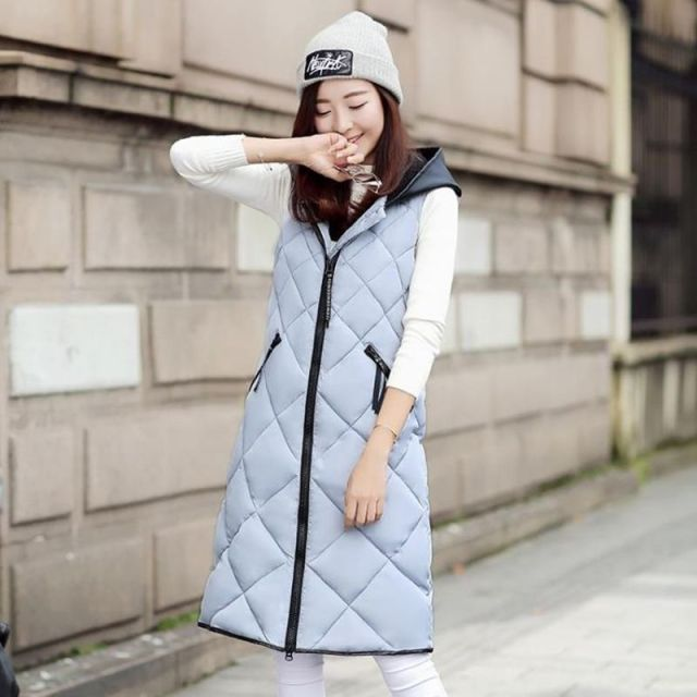2016 new coat waistcoat women down cotton lengthened Slim thick warm coat cotton sleeveless vest coat