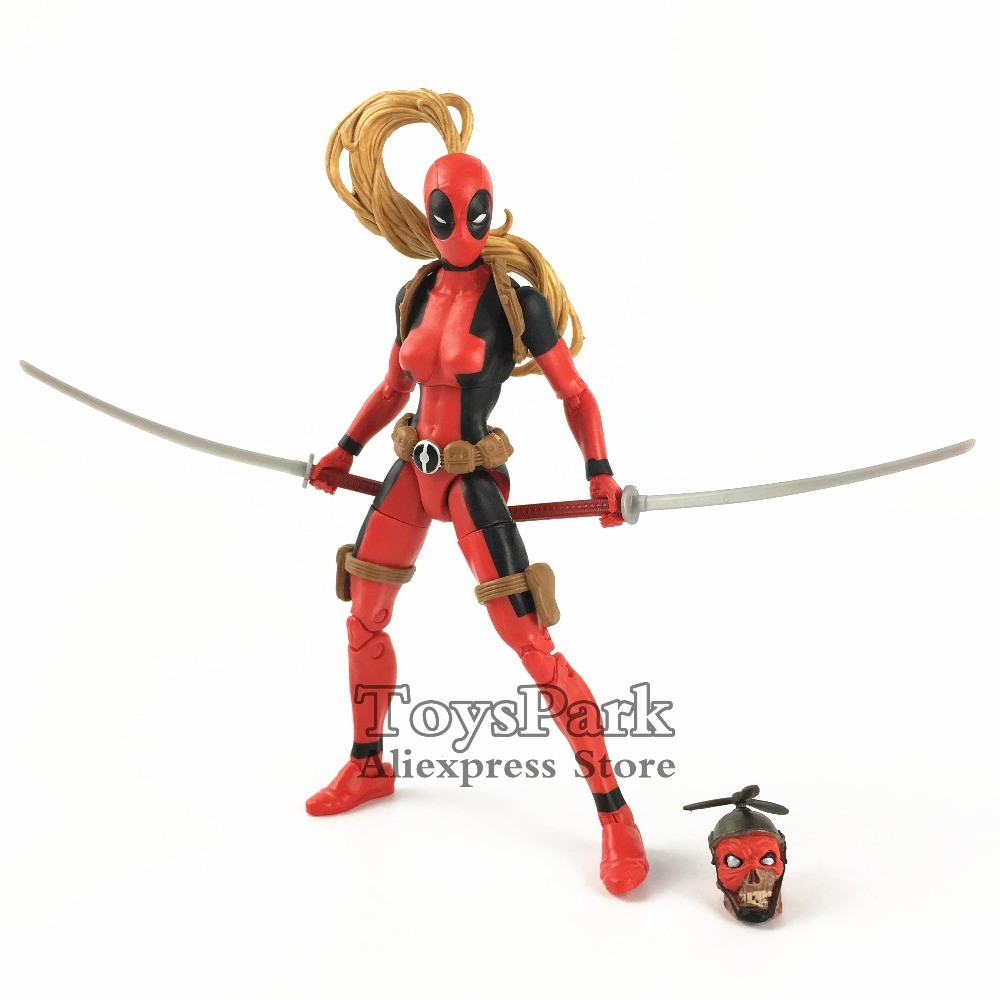 2018 Marvel Legends 6 Deadpool Lady Headpool Action Figure From Sauron BAF Wave X Men Comic Doll Toy Collectible Original2018 Marvel Legends 6 Deadpool Lady Headpool Action Figure From Sauron BAF Wave X Men Comic Doll Toy Collectible Original