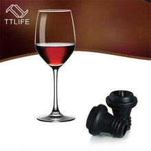 ФОТО ttlife 2018 4 pcs/set vacuum wine bottle stoppers black silicone champagne beverage stopper bar wine tools barware accessories
