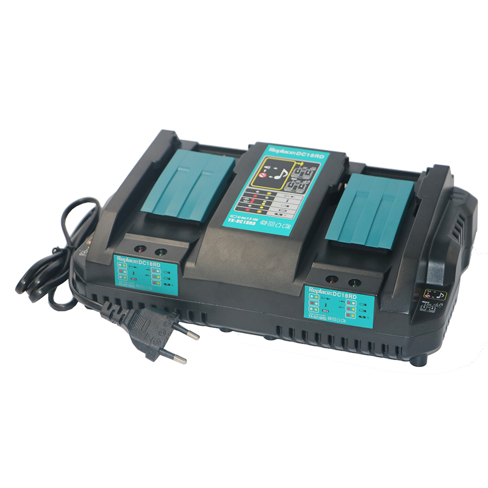 New Dual Replacement Charger for Makita,Li-ion battery,BL1830,BL1430,DC18RC, DC18RA,DC18RCT,100-240V,50/60HZ dawupine dc18rct li ion battery charger 3a 6a charging current for makita 14 4v 18v bl1830 bl1430 dc18rc dc18ra power tool