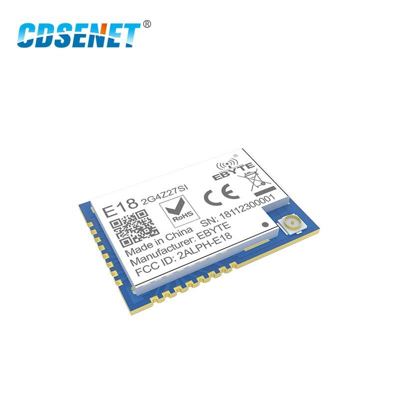Zigbee сеточная сеть CC2530 27dBm PA CC2592 E18-2G4Z27SI SMD IPEX Разъем IO порт 500 МВт дальний передатчик приемник