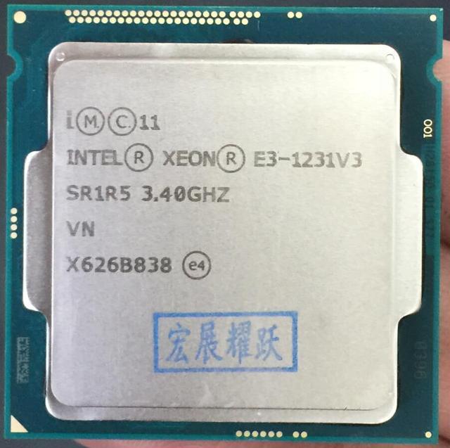 Процессор Intel Xeon, четырехъядерный процессор Intel Xeon V3 E3 1231 V3 LGA1150, 100% рабочий процессор для настольного ПК