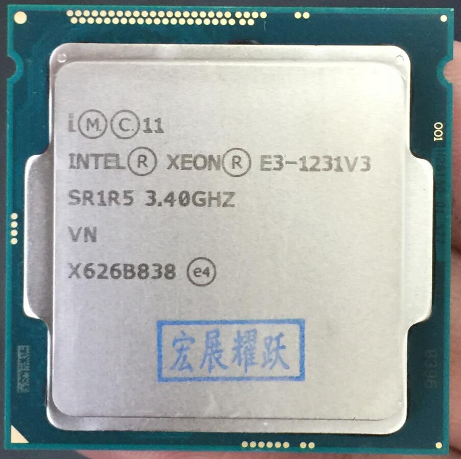 Intel Xeon Processeur E3-1231 V3 E3 1231 V3 Quad-Core Processeur LGA1150 CPU De Bureau 100% de travail correctement De Bureau Procès