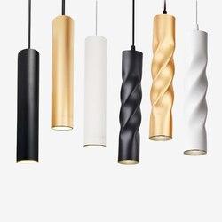 Colgante lámpara regulable luces lámpara de Isla de cocina comedor tienda Bar decoración cilindro tubo de luces de la cocina